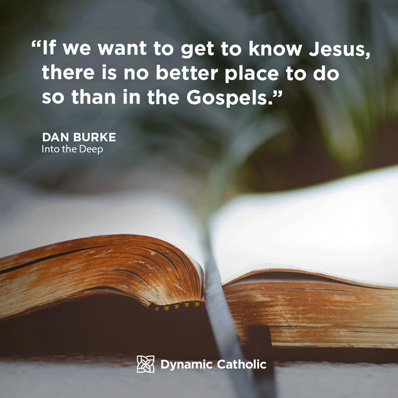 """If we want to get to know Jesus, there is no better place to do so than in the Gospels."" Dan Burke, Into the Deep"